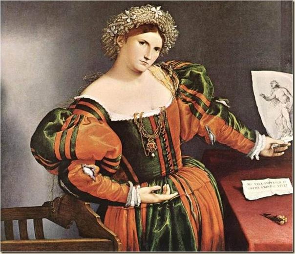 Lotto, Femme représentée en Lucrezia