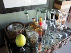 Obligatory mini-bar shot part 1 (ice bucket refilled 4 times a day, lemon, jar of pistachios, jar of nougat, decanters of port and muscadel, quarter jacks of brandy, whisky, vodka and gin, then the various types of glass for the various types of drinks - all hand blown glass by the way!).