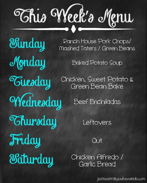 November 16-22 Meal Plan