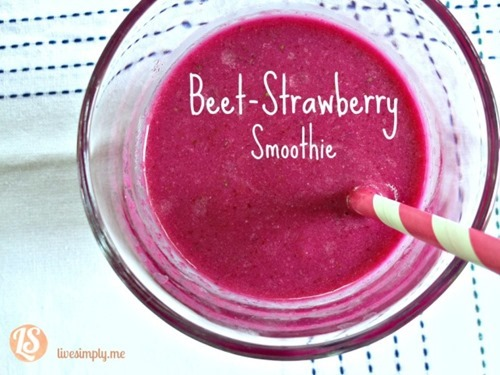 beet strawberry smoothie