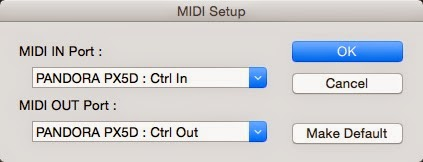 MIDI Setup画面