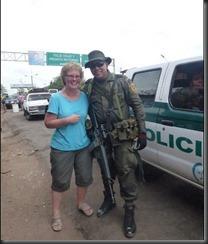 Karen at border