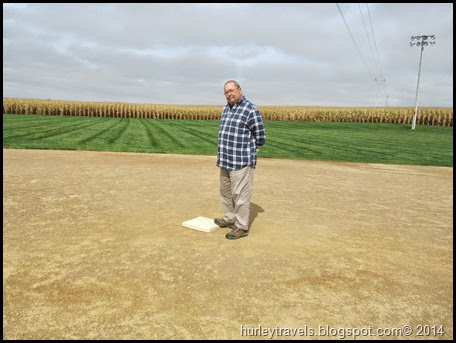 J. R. Hurley on first base, Dyersville, Iowa, Field of Dreams.