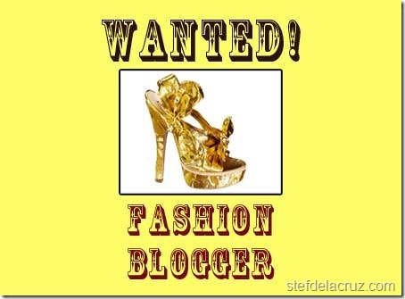 fashion blogger wanted