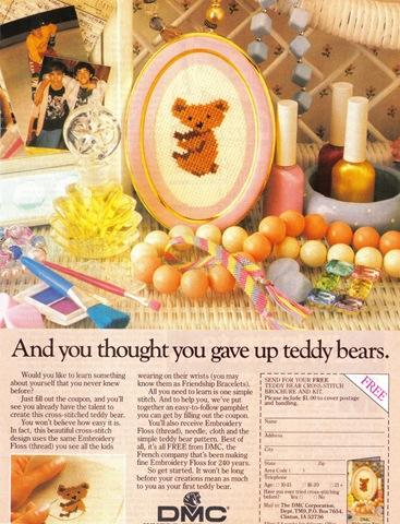 Cute 80's ad with friendship bracelet