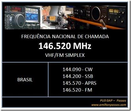 frequencia nacional de chamada