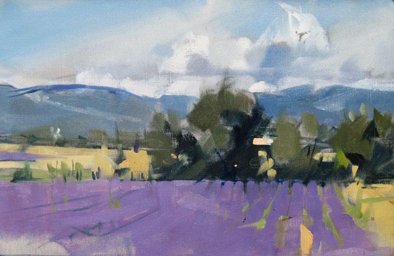 Lavender clouds12x19 w