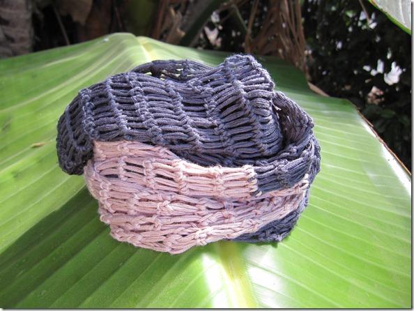 Fastmasketørklæde på palmeblad