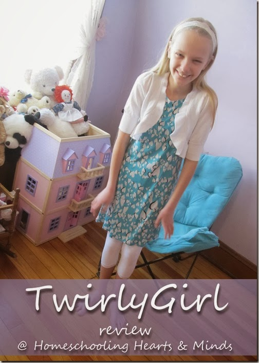 Ready to accessorize-TwirlyGirl Dresses review at Homeschooling Hearts & Minds