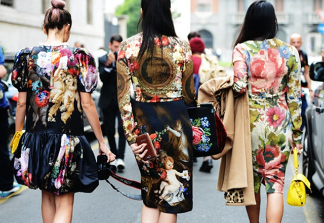 baroque prints-street style-ny fashion week ss13