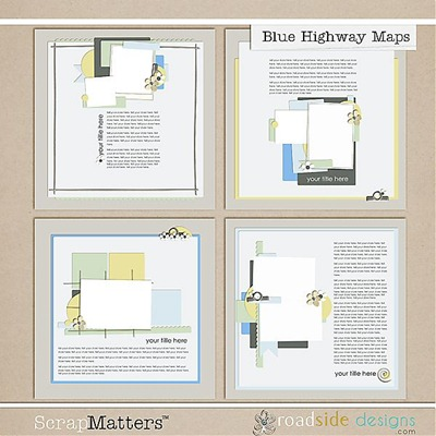 blue highway road maps by roadside designs