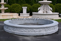 8' Round Acanthus Surround, Charcoal Grey