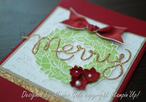 Stampin'Up! Wonderful Wreath & Expression Thinlits c
