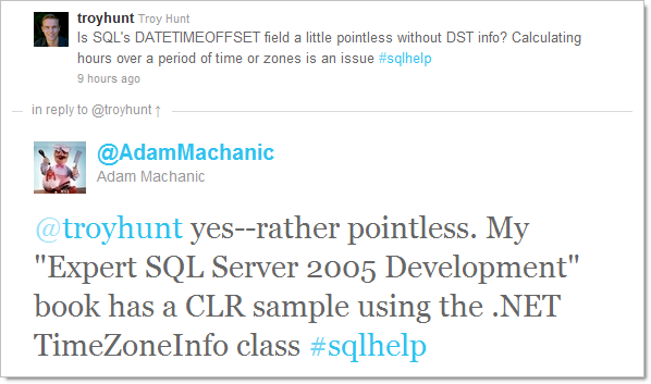 Recommendation to use the CLR in SQL by Adam Machanic