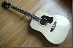 guitarra acustica golpeador