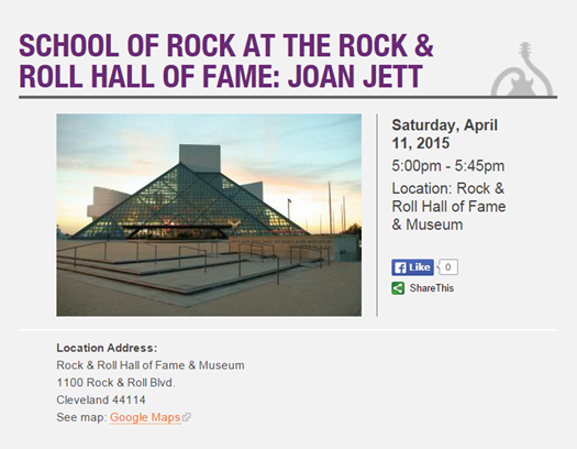 School of Rock at The Rock   Roll Hall of Fame  Joan Jett   School of Rock Strongsville