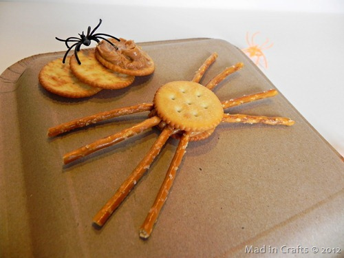 quick and easy halloween spider snack