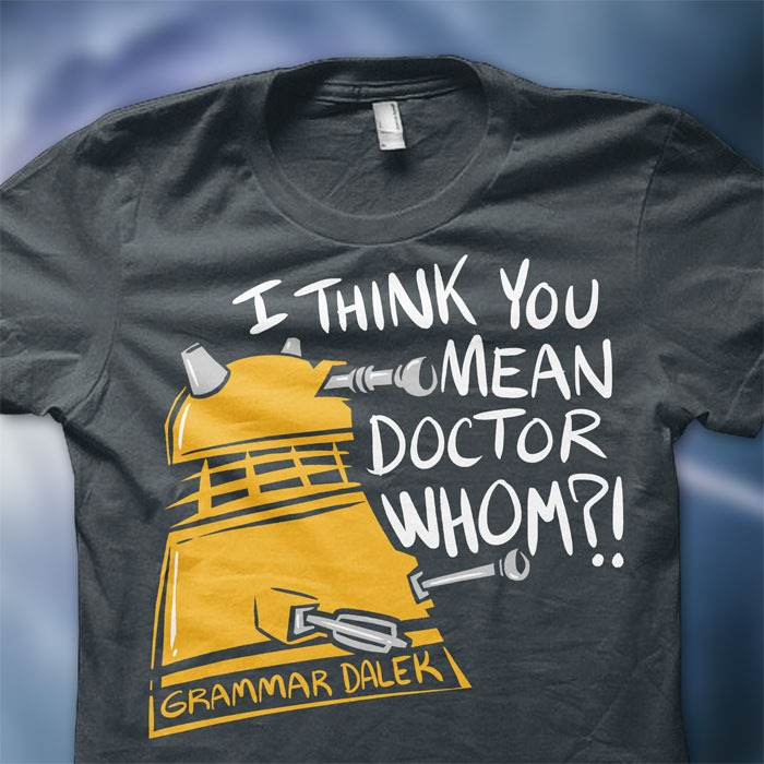 Grammar Dalek T-Shirt via blindferret