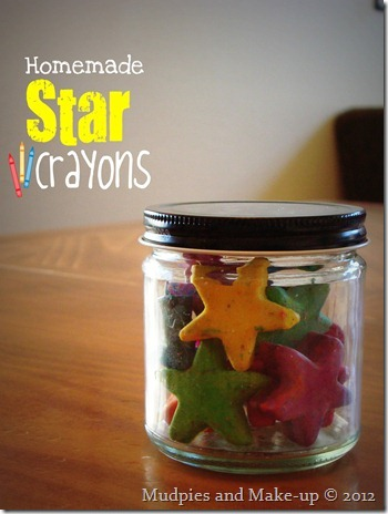 Homemade Star Crayons