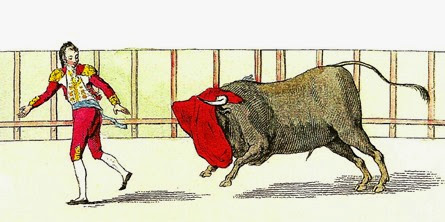 Lam. XII. Tercera suerte con los toros de sentido 002