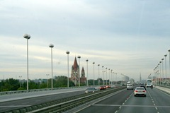 commuting to Vienna from Danube City, with St Stephens Cathedral dominating the skyline