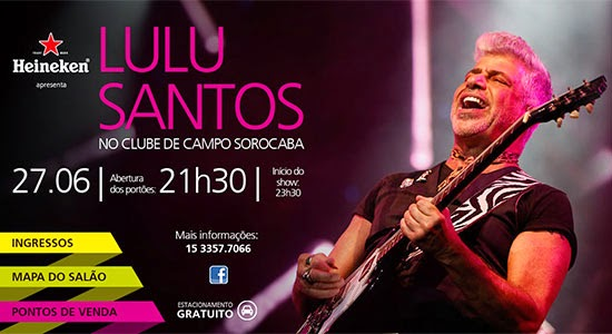 Lulu Santos se apresenta sexta, dia 27, em Sorocaba