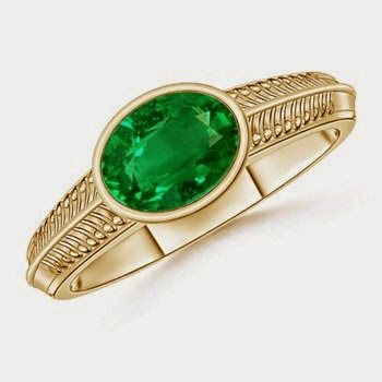 Emerald Ring for Valentines day