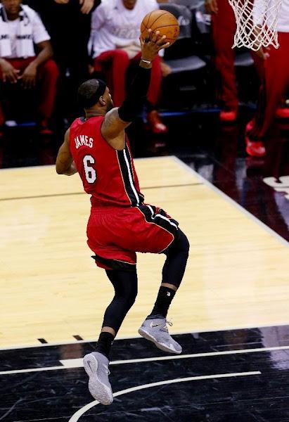 lebron james nba 140605 mia at sas 05 game 1 LeBron Cramps Up As San Antonio Wins the NBA Finals Opener