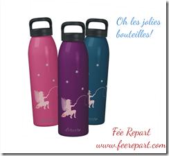 bouteilles fées de plusieurs couleurs