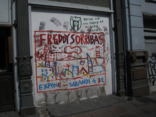 Graffiti on the very unattractive streets of Montevideo.