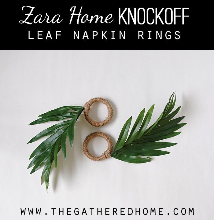 zara home knockoff leaf napkin rings2