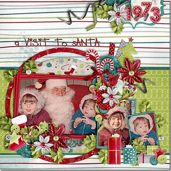 A visit to Santa 1973