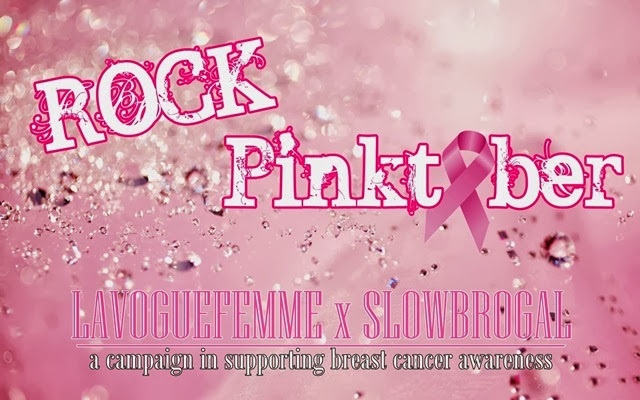 Rock Pinktober LaVogueFemme x SlowBroGal Breast Cancer Awareness