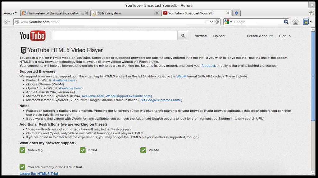 Firefox Aurora in Arch Linux