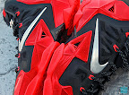 nike lebron 11 gr black red 8 11 New Photos // Nike LeBron XI Miami Heat (616175 001)