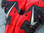 nike lebron 11 gr black red 8 11 New Photos // Nike LeBron XI Miami Heat (616175 001)