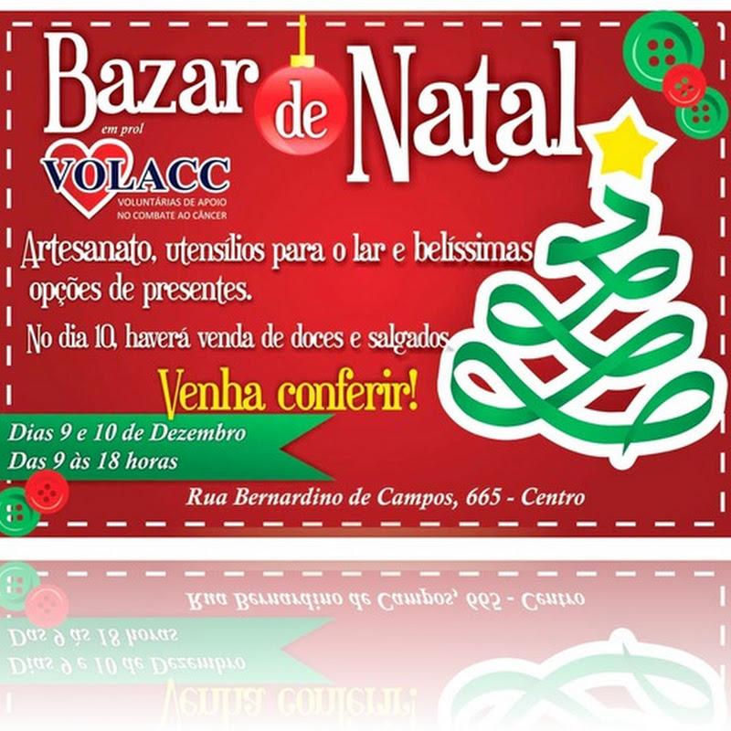 Bazar de Natal da Volacc acontece no dias 9 e 10