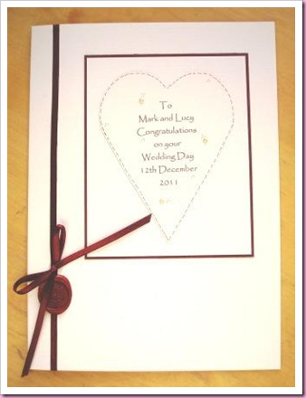 Wedding Card with seal