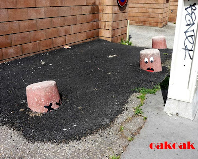 Cute and Playful Street Art of OaKoAk Seen On www.coolpicturegallery.us