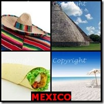 MEXICO- 4 Pics 1 Word Answers 3 Letters