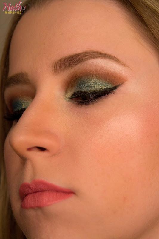 maquiagem com pigmentos da coastal scents