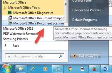 แก้ไขไม่สามารถใช้  scan ใน office 2013