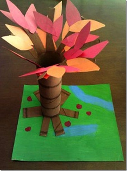 AllDoneMonkey Fall Tree Craft