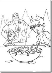 desenhos para colorir do Ben 10 vovo max gwen