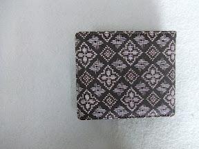 泥染大島紬 財布(札入BOXドル付)