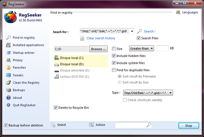 RegSeeker Free Registry Cleaner Download