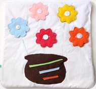 Quiet book DIY button flower template