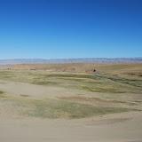 Tianshan - Paysage dune et prairies pied dune