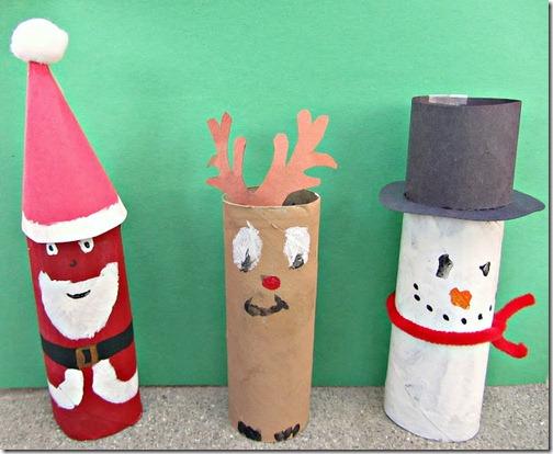manualidad navidad niños papel higienico