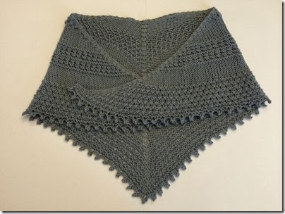 Triplicity Shawl Complete
